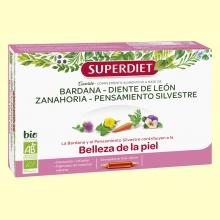 Cuarteto Bardana Bio - Belleza de la Piel - 20 ampollas - Super Diet