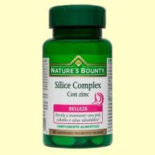 Silice Complex con Zinc - 60 cápsulas - Nature's Bounty