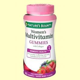 Multivitamínico mujer gummies - 60 cápsulas - Nature's Bounty