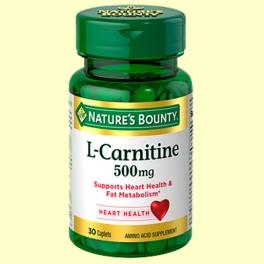 L-Carnitina 500 mg - 30 cápsulas - Nature's Bounty