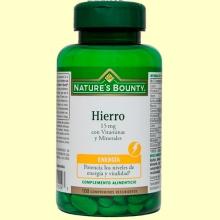 Hierro 15 mg con Vitaminas y Minerales - 100 comprimidos - Nature's Bounty