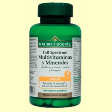 Full Spectrum Multivitaminas y Minerales - 60 cápsulas - Nature's Bounty