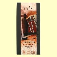 Chocolate Negro 85% Cacao Eco - 100 gramos - Vivani