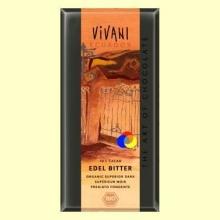 Chocolate Negro Ecológico Superior 70% Cacao - 100 gramos - Vivani Ecuador