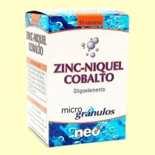 Zinc-Níquel-Cobalto - 50 cápsulas - Neo