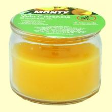 Vela en vaso cristal de citronela - 70 gramos - Monty