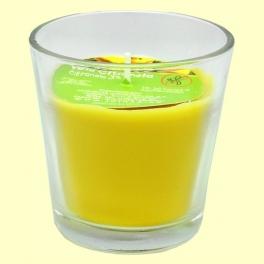 Vela en vaso cristal de citronela - 7 cm - Monty