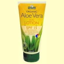 Loción Solar Aloe Vera Eco FPS 15 - 200 ml - Evicro Madal Bal