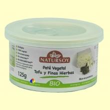 Paté vegetal Tofu y Finas Hierbas - 125 gramos - Natursoy