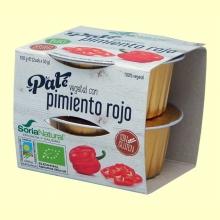 Paté Vegetal de Pimiento Rojo Bio - 100 gramos - Soria Natural