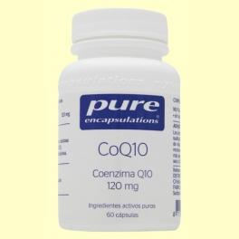 CoQ10 - Coenzima Q10 120mg - 60 cápsulas - Pure Encapsulations