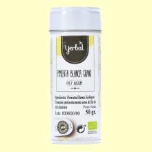 Pimienta Blanca en Grano Eco - 50 gramos - Yerbal