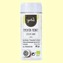 Pimentón Picante Eco - 40 gramos - Yerbal