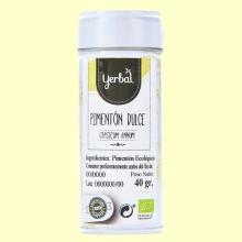 Pimentón Dulce Eco - 40 gramos - Yerbal