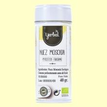 Nuez Moscada Ecológica - 40 gramos - Yerbal