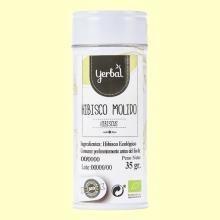 Hibisco Molido Ecológico - 35 gramos - Yerbal