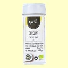 Cúrcuma Ecológica - 40 gramos - Yerbal