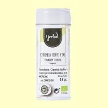 Citronela Corte Fino Ecológica - 18 gramos. - Yerbal