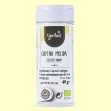 Cayena Molida Ecológica - 40 gramos - Yerbal