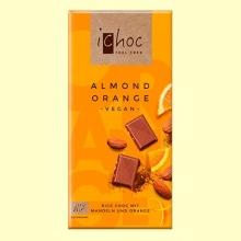 Chocolate Almendra y Naranja Bio - 80 gramos - ichoc