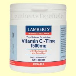 Vitamina C de Liberación Sostenida - 1500 mg 120 tabletas - Lamberts