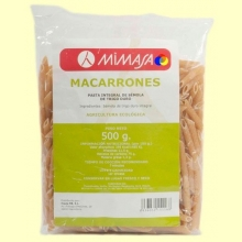 Macarrones Integrales Ecológicos - 500 gramos - Mimasa