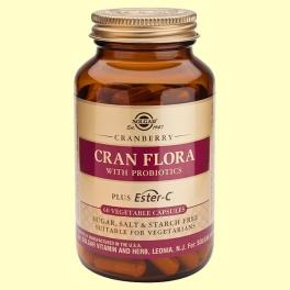 Cran Flora con probióticos - 60 cápsulas - Solgar