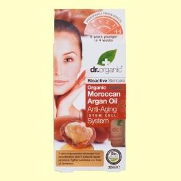 Sistema Anti Edad con Células Madre de Aceite de Argán Marroquí Bio - 30 ml - Dr.Organic