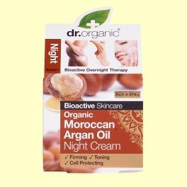 Crema de Noche Aceite de Argán Marroquí Bio - 50 ml - Dr.Organic