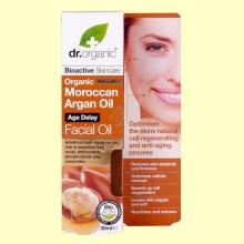 Aceite Facial de Aceite de Argán Marroquí Bio - 30 ml - Dr.Organic