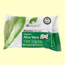 Toallitas Húmedas de Aloe Vera Bio - 20 unidades - Dr.Organic