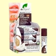 Bálsamo Labial de Aceite de Coco Bio - 5,7 ml - Dr.Organic