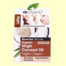 Crema de Noche de Aceite de Coco Bio - 50 ml - Dr.Organic