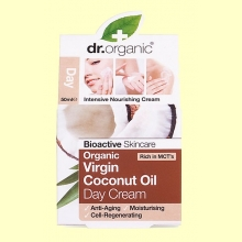Crema de Día de Aceite de Coco Bio - 50 ml - Dr.Organic