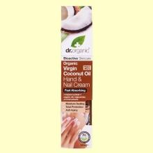 Crema para Manos y Uñas de Aceite de Coco Bio - 100 ml - Dr.Organic