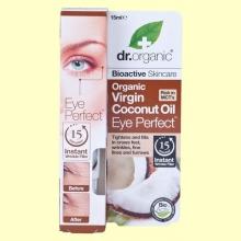 Contorno de Ojos de Aceite de Coco Bio - 15 ml - Dr.Organic