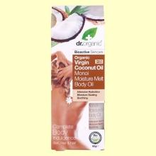 Aceite Corporal Hidratante de Aceite de Coco Bio - 100 ml - Dr.Organic