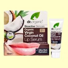 Suero Labial de Aceite de Coco Bio - 10 ml - Dr.Organic