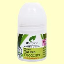 Desodorante de Árbol del Té Bio - 50 ml - Dr.Organic