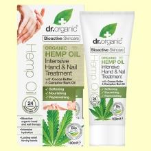 Tratamiento Intensivo Manos y Uñas de Aceite de Cáñamo Bio - 100 ml - Dr.Organic