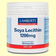 Lecitina de Soja 1.200 mg- Lamberts - 120 cápsulas