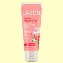 Loción de Manos y Cuerpo Agua de Rosas - 227 gramos - Jason