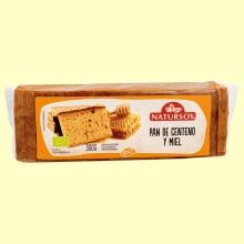 Pan de Centeno y Miel Bio - 300 gramos - Natursoy