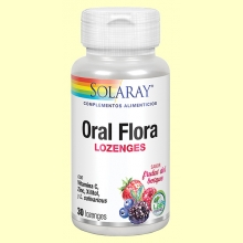 Oral Flora - Boca saludable - 30 comprimidos masticables - Solaray