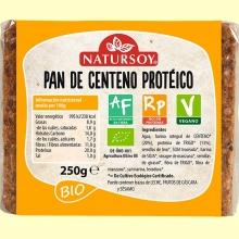 Pan de Centeno Proteico Bio - 250 gramos - Natursoy
