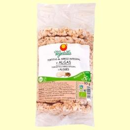 Tortitas de Arroz Integral y Algas Bio - 110 gramos - Vegetalia