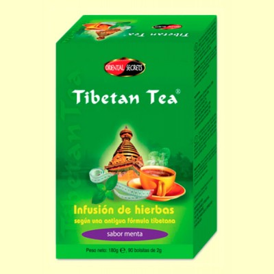 Tibetan Tea - 90 bolsitas - Sabor Menta