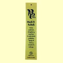 Incienso Natural de Musk y Pachuli - 10 sticks - H&B