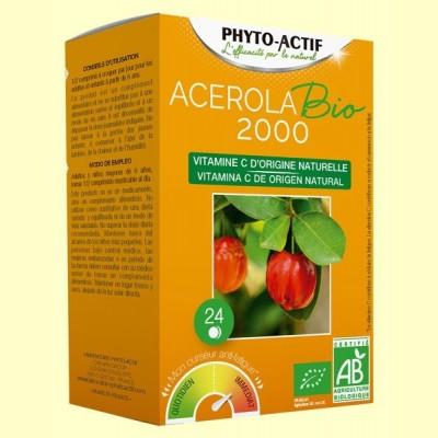 Acerola Bio 2000 - 24 comprimidos - Phyto Actif