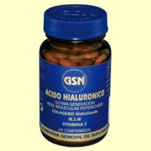 Ácido Hialurónico + Colágeno Hidrolizado + M.S.M + Vitamina C - 60 comprimidos - GSN Laboratorios